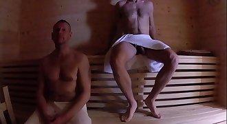 Sauna Fuck - Older Younger Bareback Fuck
