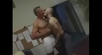 Young gay fucked in a job interview by old men daddy