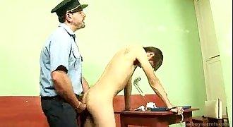 Daddy Cop Arressts Then Fucks Twink