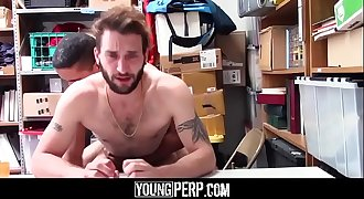 Busted straight dude takes raw black dick in his taut ass-YOUNGPERP.COM