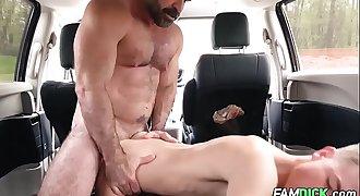 Stepdad Fucks Stepson in The Car