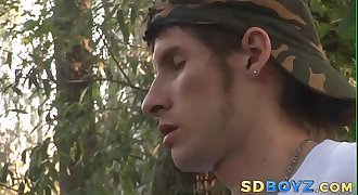 Jizzed twink spunks mouth